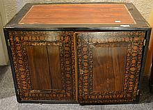 An Indian inlaid and veneered vargueno 18th/19th Century the interior