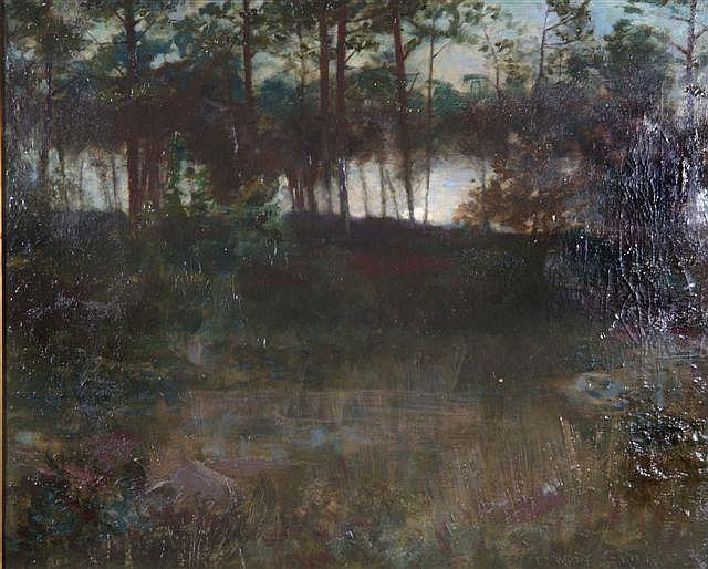 EDMOND WYLY GRIER (1862-1957) - A wooded pool at