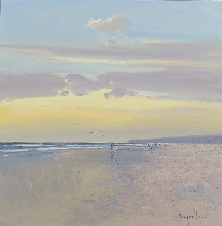 JORGE SEGRELLES (20TH CENTURY) View of the beach