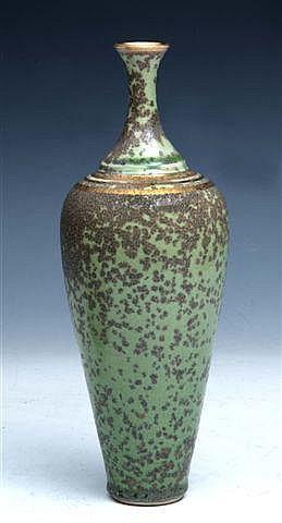 DEREK CLARKSON (b.1928) A porcelain bottle vase,