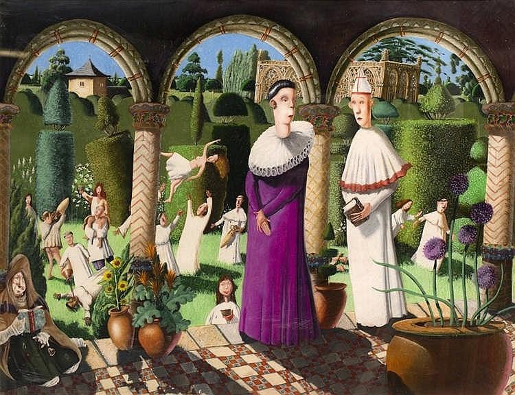 Richard Adams (b.1960) Monastery in Summer, 1997