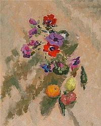ERIC PEET (1909-1968) Still life, a glass vase of