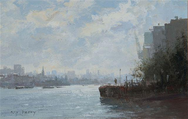 ROY PERRY (1935-1993) 'Wapping Pier Head', signed,