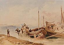 SAMUEL AUSTIN (1796-1834) On the Rhine, watercolou