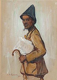 HILDA MAY GORDON (British, 1874-1972) A study of