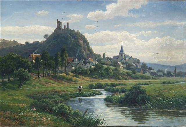 JOHANNES GLUCKERT (B. 1868) A Bavarian landscape