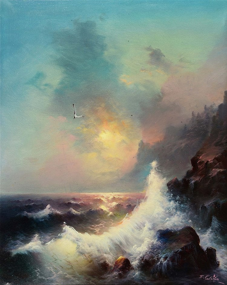 EUGENE GARIN (1922 - 1994) 'Ocean Sunlight', signed and dated '91, oil