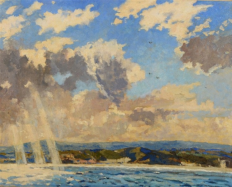 WILLIAM TODD BROWN (1875-1952) Off the Cornish Coast, signed, oils on