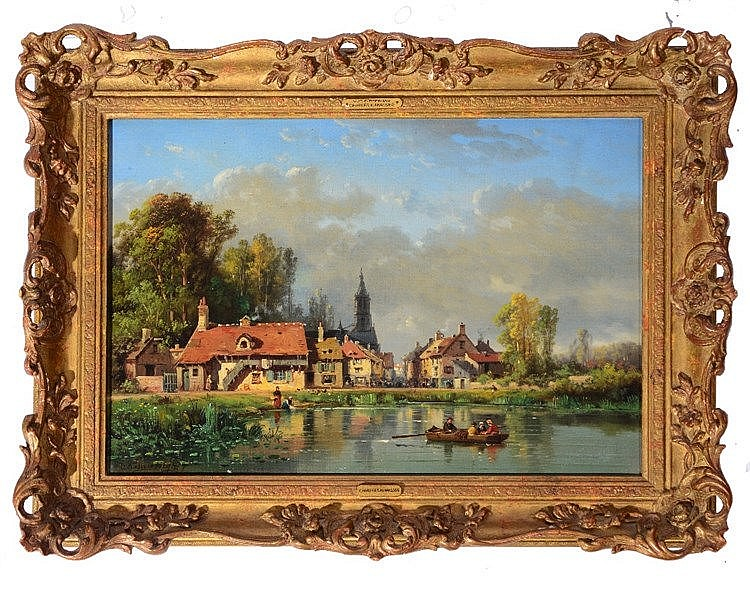 CHARLES KUWASSEG (1838 - 1904) 'Vue D'Epernay', signed and dated '79,