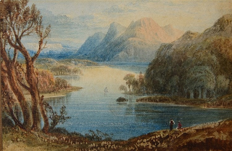 WILLIAM CROUCH (act. 1817 - 1850) 'Part of Loweswater', signed, titled