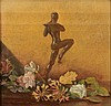 ENGLISH SCHOOL (EARLY 20TH CENTURY) Still life with dancing bronze fig