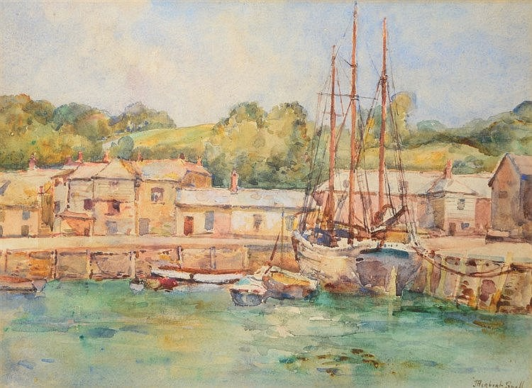 JAMES HERBERT SNELL (1861-1935) 'North Gray, Padstow' signed, watercol