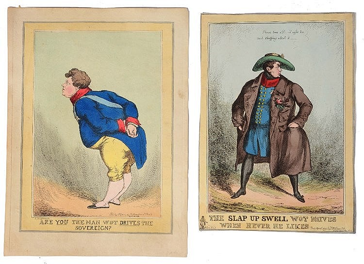 A FOLIO OF MISCELLANEOUS CARICATURE engravings after Sharpshooter & others,