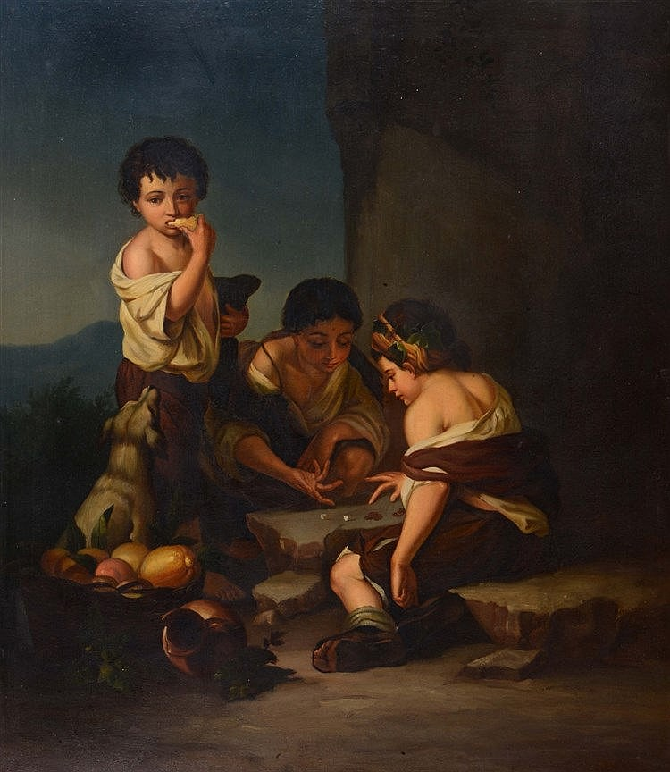 AFTER BARTOLOMÉ ESTEBAN MURILLO Street children playing a game of dice