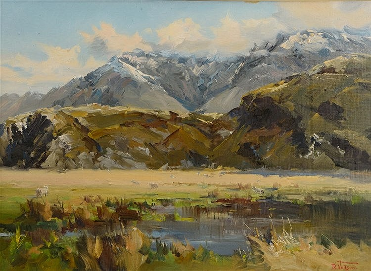 DON R NEILSON (1924-2013) 'Spring, Wanaka District', signed, oils on c