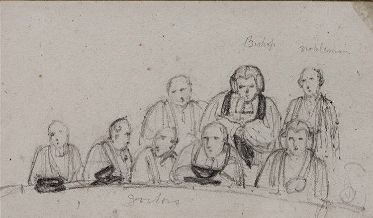 THOMAS UWINS (1782-1857) 'Academics at a Ceremony', possibly a study
