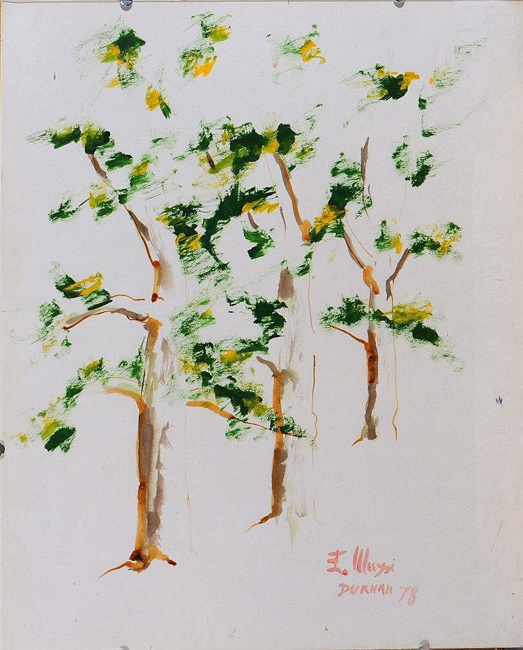 KIRIL SOKOLOV (20TH CENTURY) Tree study, signed 'E. Mussi' and inscrib