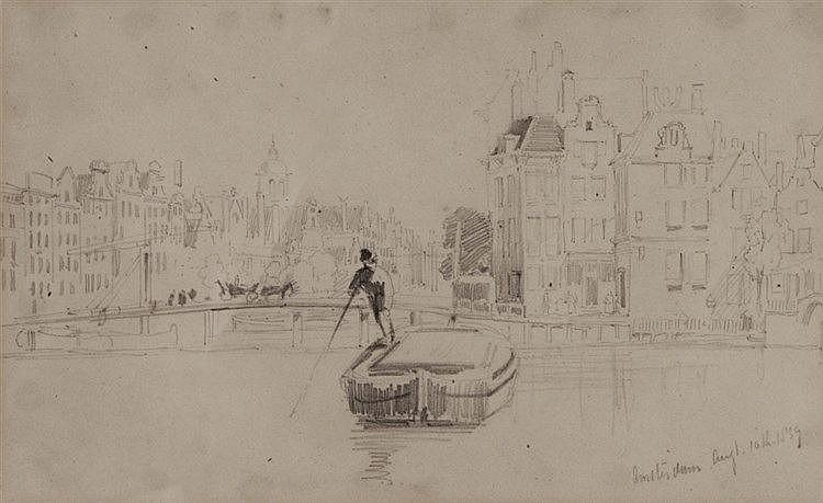 THOMAS SEWELL ROBINS (1814-1880) 'Amsterdam, Aug 10th 1839', pencil, 1
