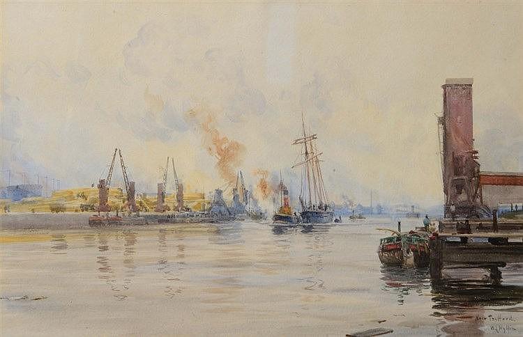 WILLIAM LIONEL WYLLIE (1851-1931) 'Near Trafford', signed and inscribe