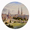 AN ALBUM OF EIGHTEEN WARWICKSHIRE WATERCOLOUR VIEWS  by Herbert Edward