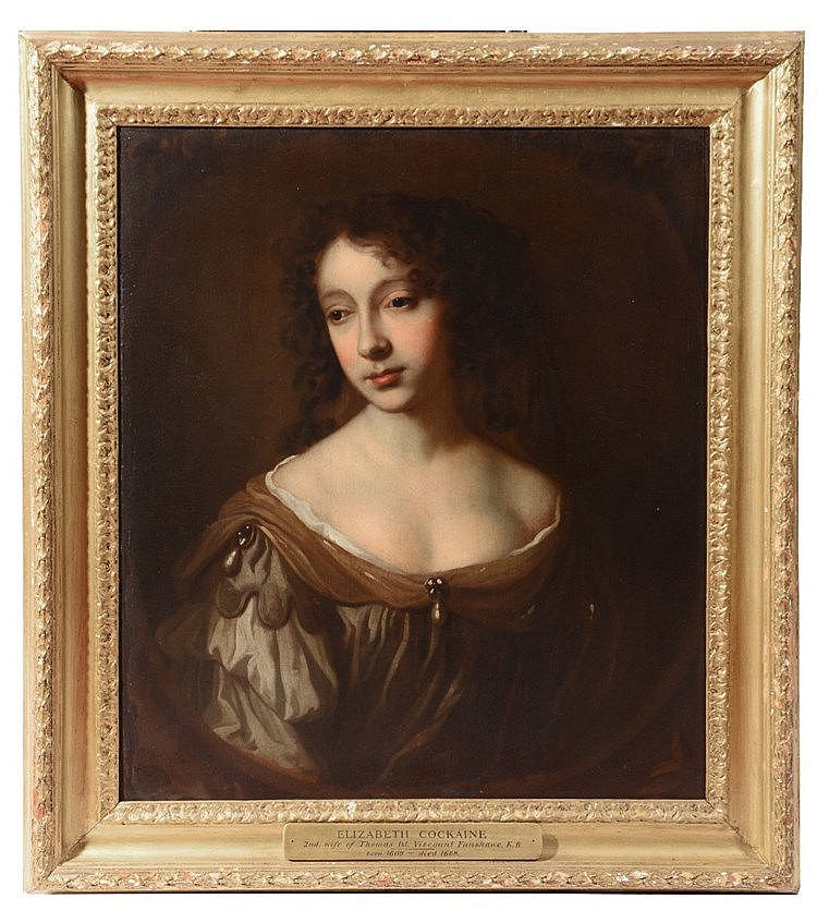 CIRCLE OF SIR PETER LELY (1618-1680) Portrait of Elizabeth Cockayne wi