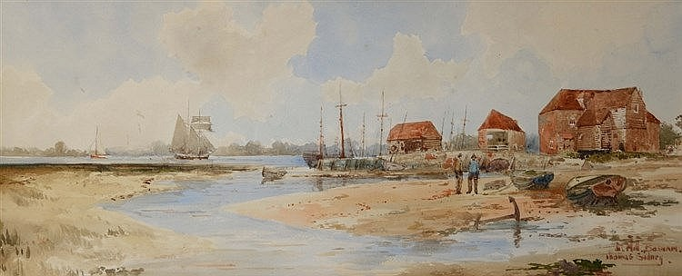THOMAS SIDNEY (19TH/20TH CENTURY) 'The Mill, Bosham', signed and inscr