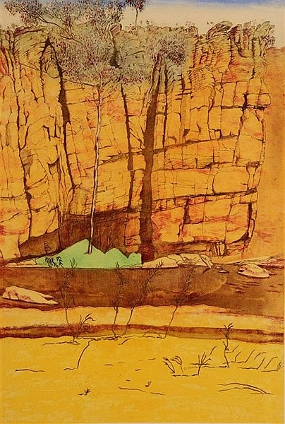 MAX MILLER (b.1940) 'Cliffs - Ormistion Creak, N-T', signed and dated