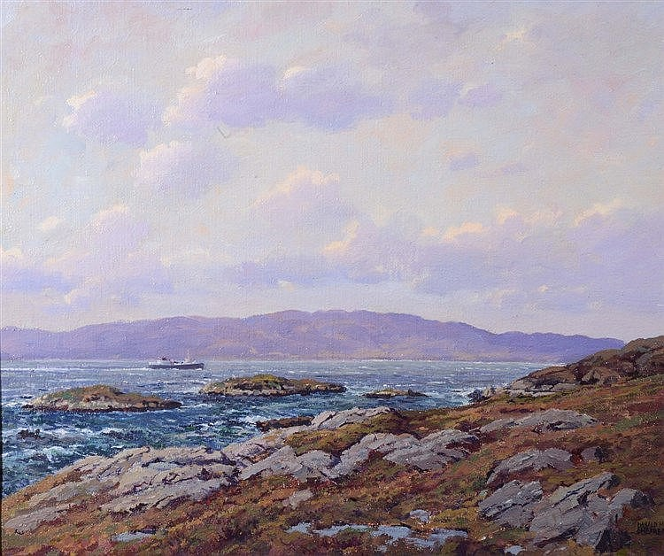 DONALD M. SHEARER (b. 1925) 'Isle of Skye from Near Kyle', signed, oil