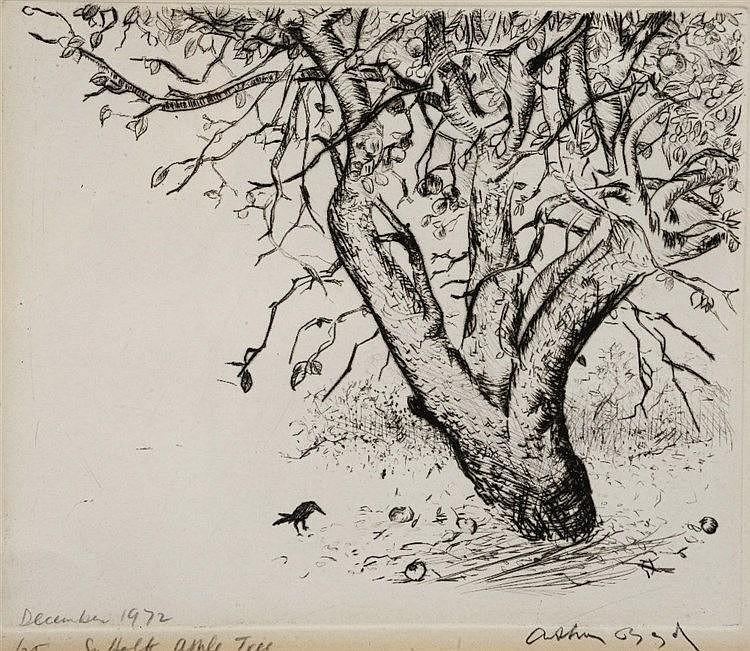 ARTHUR BOYD (1920-1999) 'Suffolk Apple Tree, etching, pencil signed in