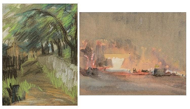 ATTRIBUTED TO HERCULES BRABAZON BRABAZON (1821-1906) A harbour scene,