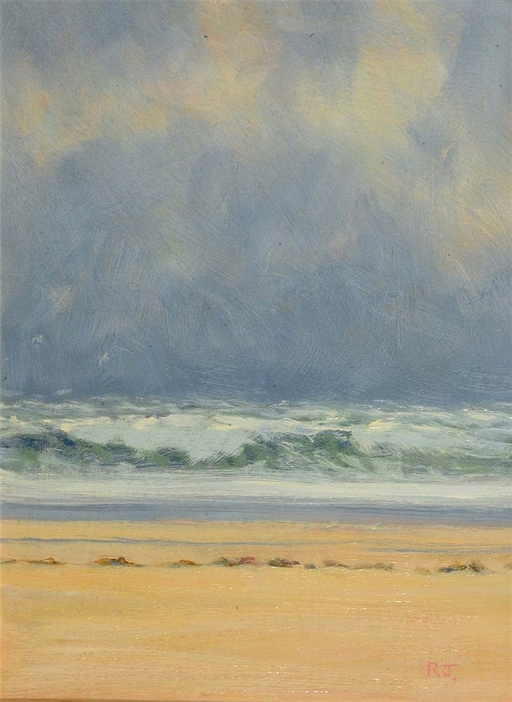 ROBERT JONES (b. 1943) 'Atlantic Surf, Stormy Day', signed with initia