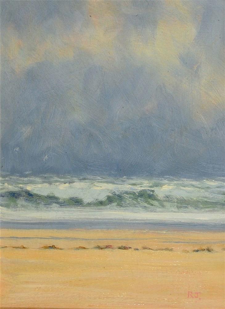 ROBERT JONES (b. 1943) 'Atlantic Surf, Stormy Day', signed with initia