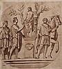 17TH CENTURY ITALIAN SCHOOL A classical figure scene, pen and brown wa