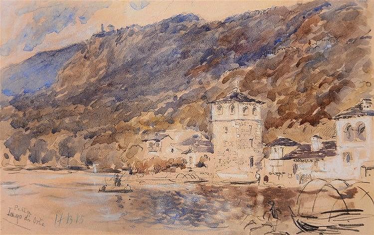 HERCULES BRABAZON BRABAZON (1821-1906) 'Pella, Lago di Orta', signd wi