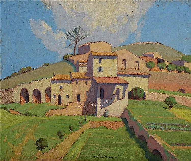 ROBERT KIRKLAND JAMIESON (1881 - 1950) A Mediterranean Village, signed