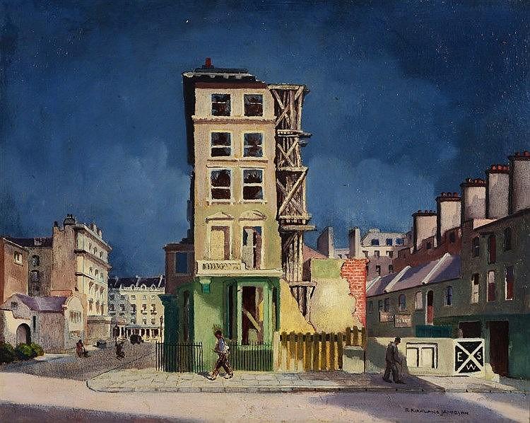 ROBERT KIRKLAND JAMIESON (1881 - 1950) Street Scene in War Time, signe