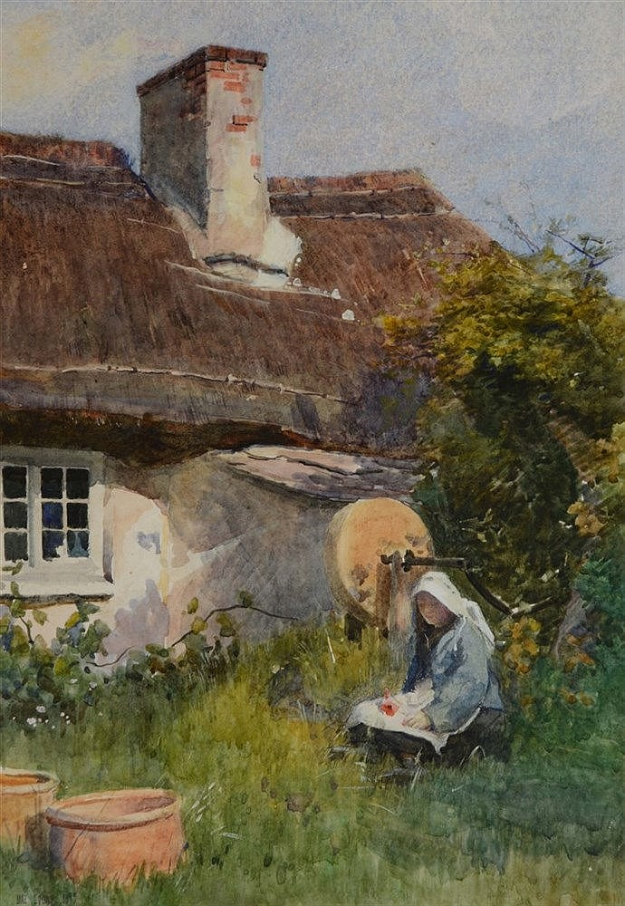MAX LUDBY (1858 - 1943) 'One Acre Farm, Swanage', signed and dated 189