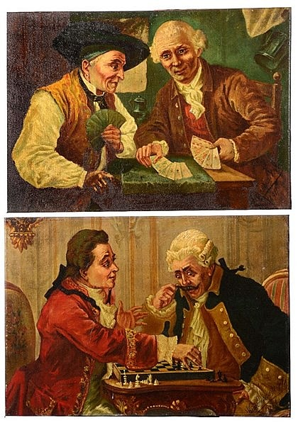 * VANDEMOORTELE (19TH CENTURY) 'The Card Players' and 'The Chess Playe