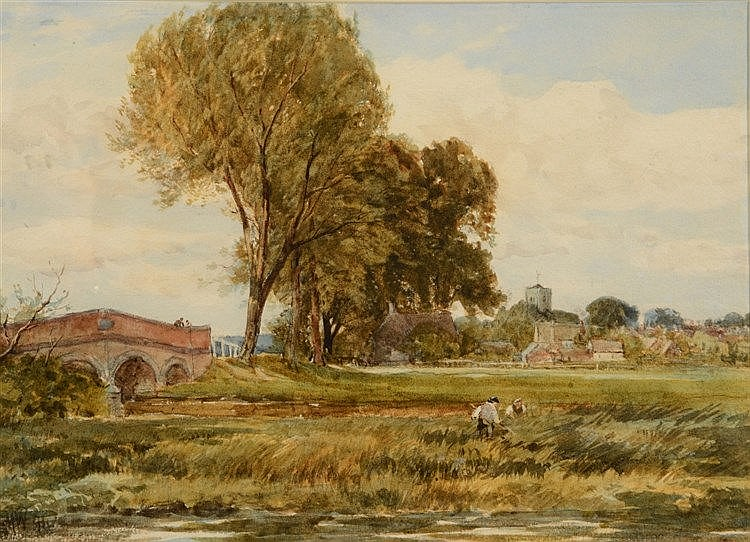 EDMUND MORISON WIMPERIS (1835-1900) In the water meadows, Kingswood, s