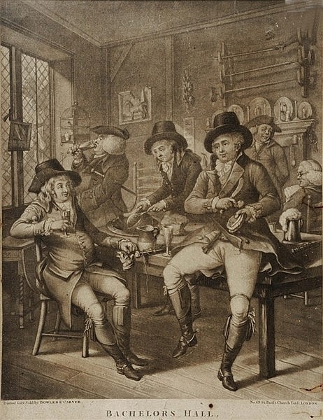 BOWLES & CARVER (pubs.) 'Bachelors Hall', mezzotint, No. 609 Pub c.Jun