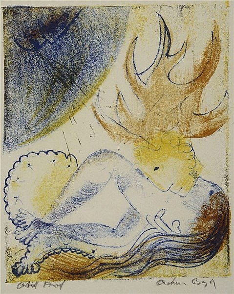 ARTHUR BOYD (1920-1999) Figure study, lithograph in colours, pencil si