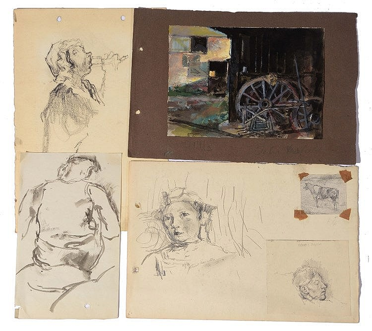 A COLLECTION OF SKETCHES AND DRAWINGS by John Linfield.