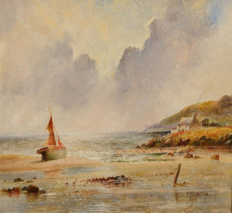 THOMAS BROXTON (19TH / 20TH CENTURY) 'Beached', signed and dated 1931,