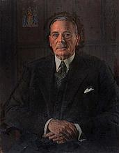 HAROLD KNIGHT (1874-1961) Portrait of the second Lord Hayter seated in