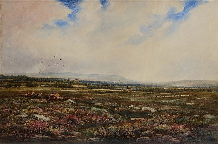 THOMAS COLLIER (1840 - 1891) 'Castle Bolton with Wensleydale Beyond, Y