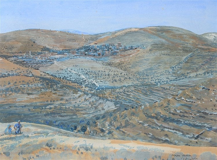 THOMAS CANTRELL DUGDALE (1880-1952) 'Ayon Kerim', (Palestine) signed