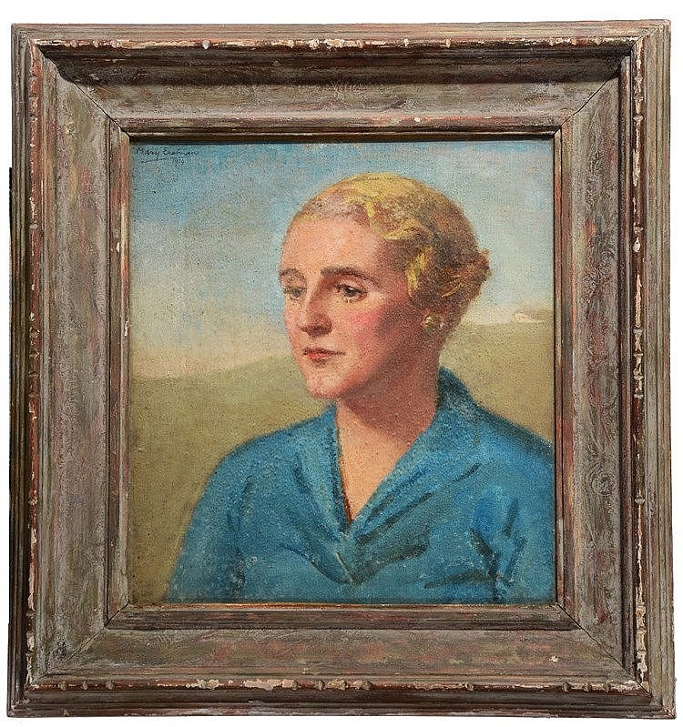 MARY EASTMAN (ACT. c.1932-1970) Portrait of a lady with short blonde h
