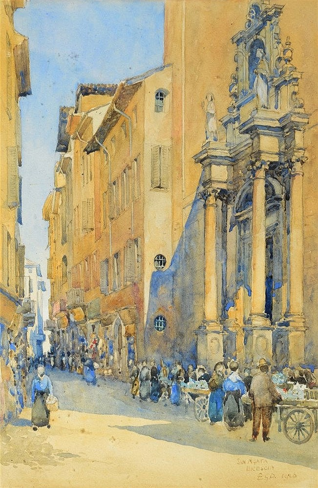 SIR EDWARD GUY DAWBER (1861-1938) San Agata, Brescia, signed with init