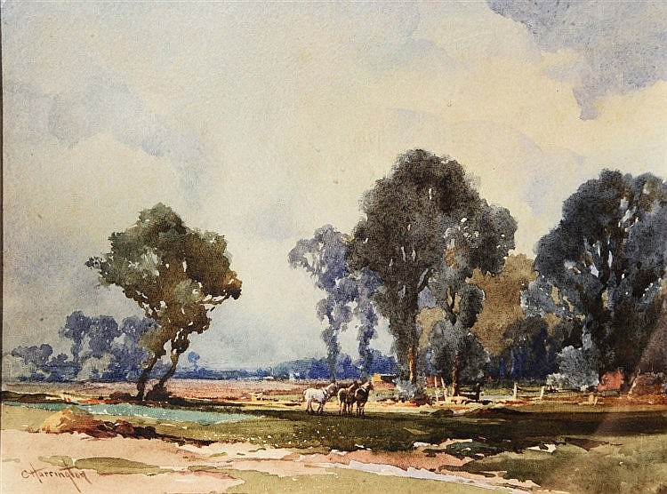 CHARLES HARRINGTON (1865-1943) 'Near Nutley, Sussex', signed, watercol
