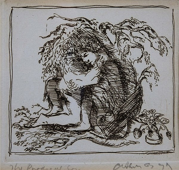 ARTHUR BOYD (1920-1999) 'The Prodigal Son', etching, pencil signed in
